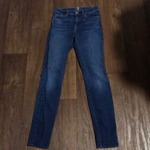 7 for all mankind midrise skinny jeans sz 26